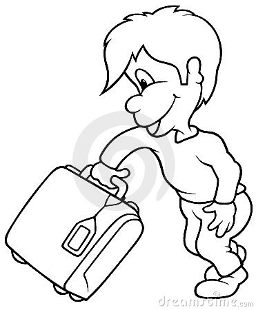 Boy and Travel Case