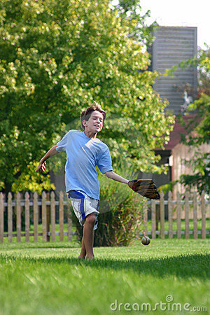 Free Boy Trying To Catch Ball Stock Photo - 1244390