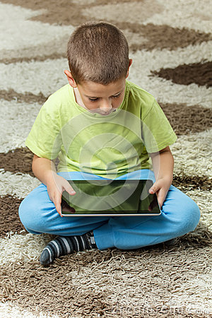 Boy using a tablet