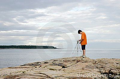 Boy Videotaping Stock Photos - Image: 7305953