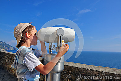 Boy at the viewpoint