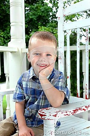 Free Boy Waiting At Home Stock Photos - 16691933