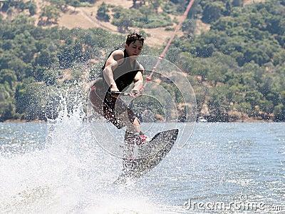 Boy Wakeboarding