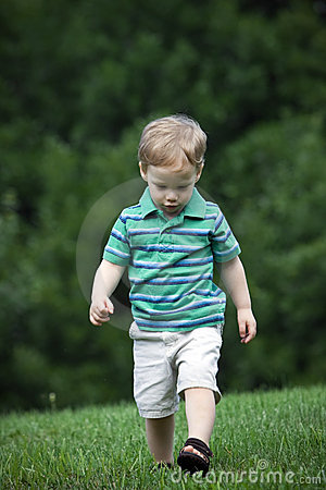 Boy walking