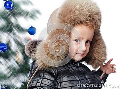Boy in a warm hat