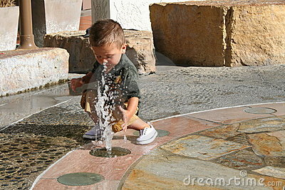 Boy & Water Fountain
