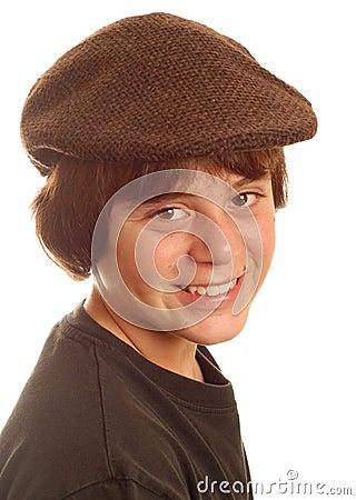 Boy wearing flat cap