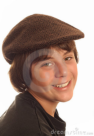 Boy wearing flat cap