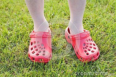 Boy wearing Sandals