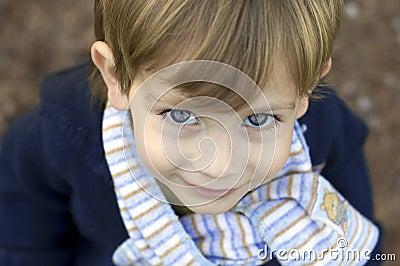 Boy wearing a scarf