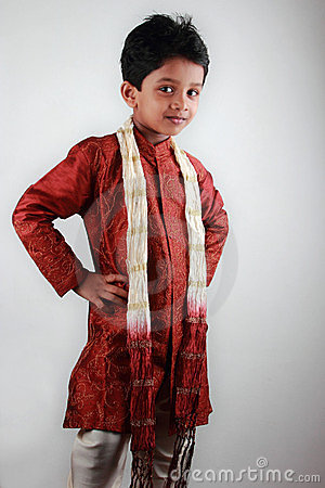 Boy wearing traditional dress