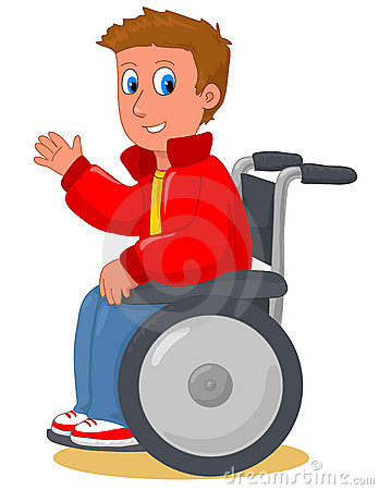 Boy on wheelchair