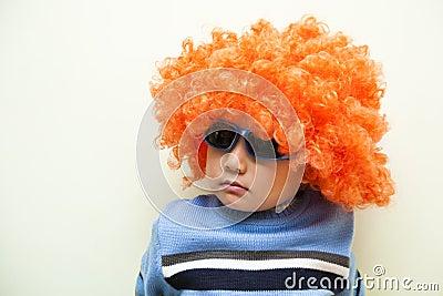 Boy with wig