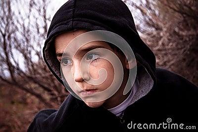 Boy in the wilderness