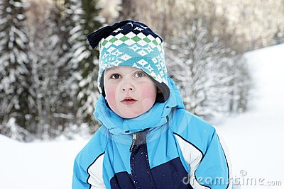 Boy and winter