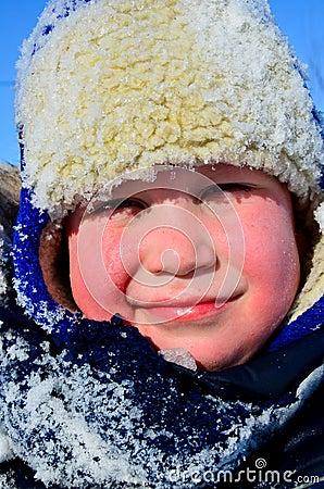 Boy in a winter hat