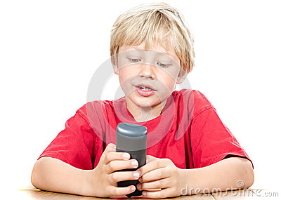 Boy with wireless phone