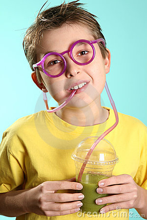 Free Boy With A Healthy Superjuice Royalty Free Stock Photography - 2817887
