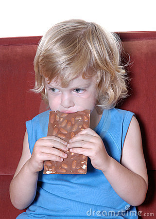 Free Boy With Chocolate II Royalty Free Stock Images - 206169