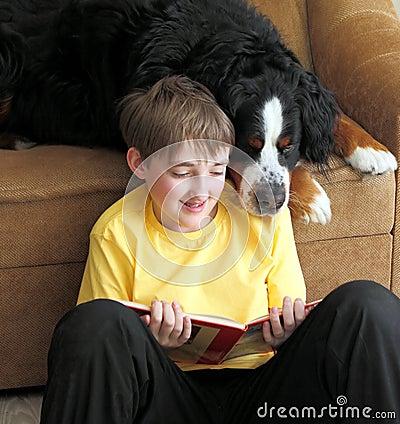 Free Boy With Dog Stock Image - 23788811