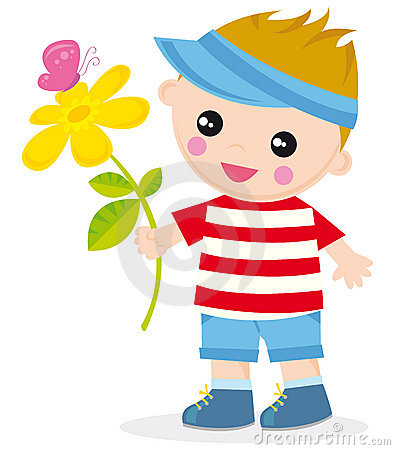 Free Boy With Flower Royalty Free Stock Image - 5862936