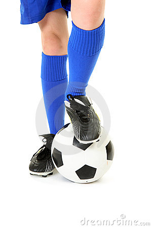 Free Boy With Foot On Soccer Ball Stock Photos - 14658253
