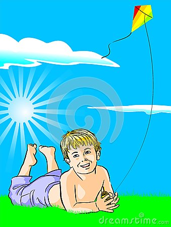 Free Boy With His Kite Royalty Free Stock Images - 29112989