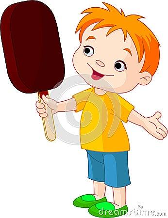 Free Boy With Ice Cream Stock Image - 14567391