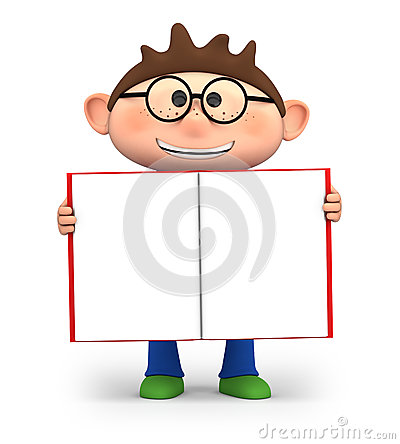 Free Boy With Open Book Stock Photography - 25156552