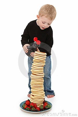 Free Boy With Pancakes Stock Photography - 16672542
