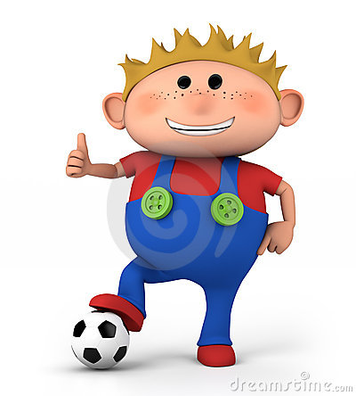 Free Boy With Soccer Ball Stock Photo - 22987870