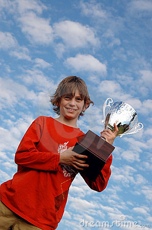 Free Boy With Trophy Royalty Free Stock Images - 1860509