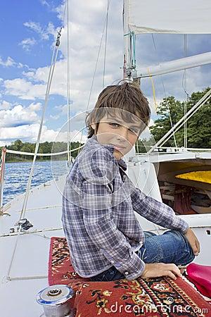 Boy yachting