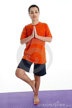 Boy in Yoga Pose