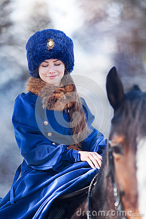 Free Boyar Woman On Horse Stock Photos - 80562903