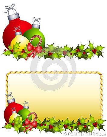 Bożych narodzeń holly ornamenty