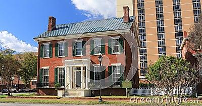 Boyhood home de Woodrow Wilson en Augusta, Georgia 4K almacen de metraje de vídeo