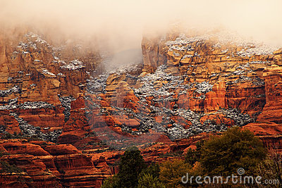 Boynton Red Rock Canyon Snow Clouds Sedona Arizona