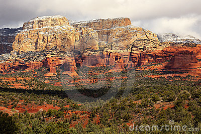 Boynton Red White Rock Canyon Snow Sedona Arizona