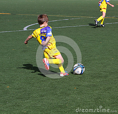 Boys on the Alicante City Youth Soccer Cup Editorial Photo