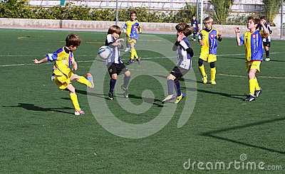Boys on the Alicante City Youth Soccer Cup Editorial Image