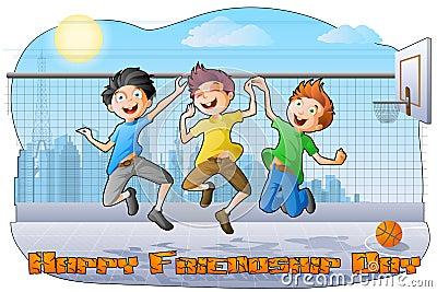 Boys celebrating Friendship Day