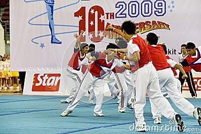 Boys' Cheerleading Action Editorial Photography