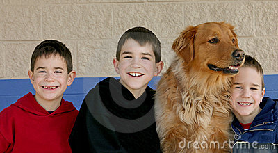Boys and the Dog