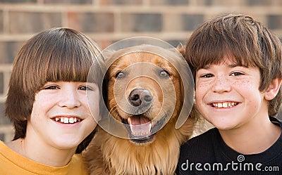 Boys and a Dog