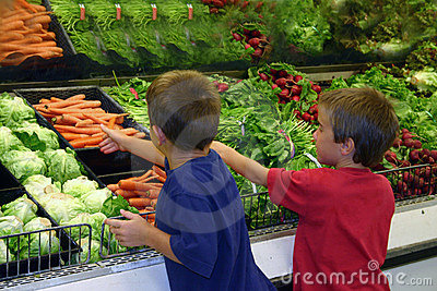 Boys in Grocery Store