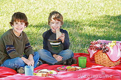 Boys Having a Picnic