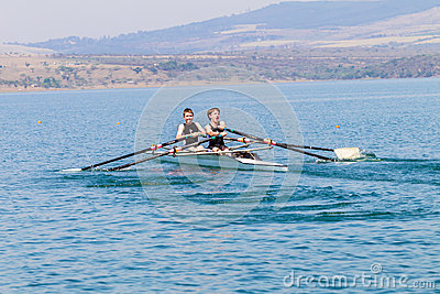 Regatta Rowing Teenagers Doubles Editorial Stock Photo