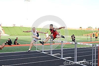 Boys Hurdle Race Editorial Image