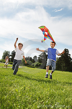 Boys with kite